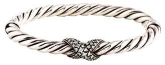 David Yurman Diamond X Collection Narrow Bracelet