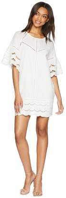 Adelyn Rae Rowan Scalloped Shift Dress Women's Dress