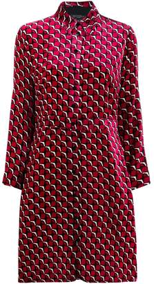 Antonelli graphic print shirt dress