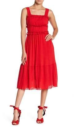 Endless Rose Smocked Ruffled Midi Dress