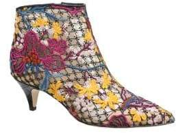 Sam Edelman Kinzey Floral Embroidered Kitten Heel Booties