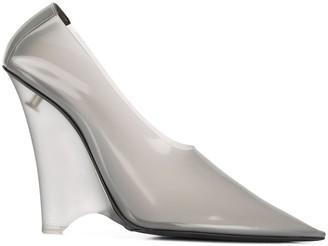 Yeezy wedge heel pumps