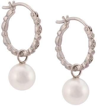 Cathy Waterman pearl seed hoop earrings