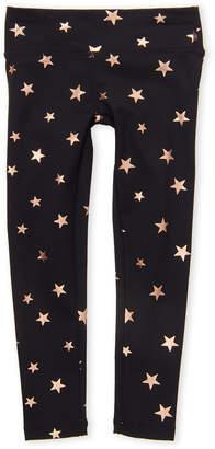 Spiritual Gangster Toddler Girls) Black Star Print Active Leggings