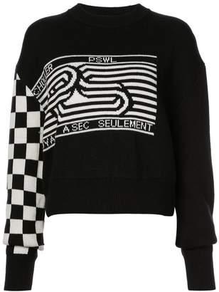 Proenza Schouler PSWL Graphic Jacquard Sweater