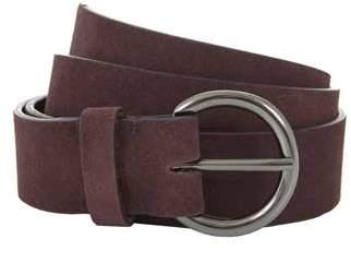 Mint Velvet Bordeaux Circle Buckle Belt