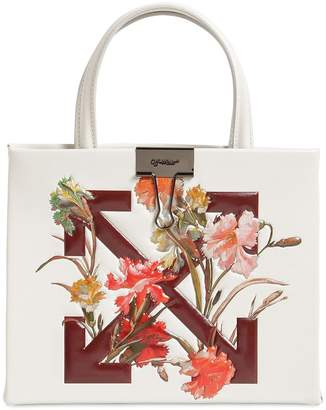 Off-White Off White FLOWER BOX PRINTED LEATHER BAG