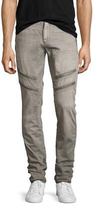 PRPS Allergies Slim Moto Pants, Gray