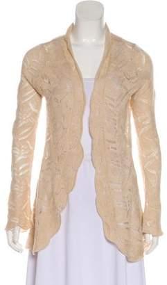 TSE Cashmere-Blend Patterned Cardigan
