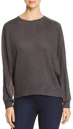 Kenneth Cole Mixed Media Sweatshirt Top