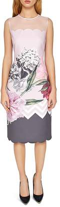 Ted Baker Arionah Palace Gardens Scalloped Dress