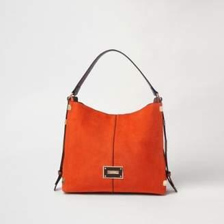 River Island Womens Orange side tab slouch bag