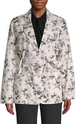 Rebecca Taylor Floral-Print Cotton & Linen Jacket
