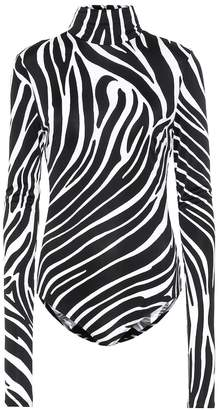 Versace Zebra-print jersey bodysuit