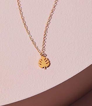 Lou & Grey Seoul Little Tropical Leaf Necklace