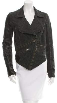 Yigal Azrouel Cut25 by Leather-Trim Moto Jacket