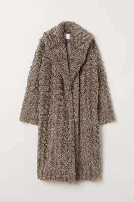 H&M Faux Fur Coat - Gray