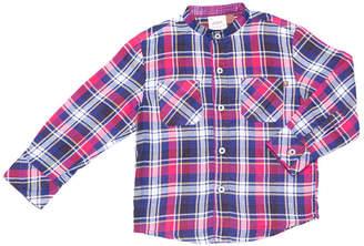 Hudson Fore!! Axel & Fore Axel & Plaid Mandarin Collar Shirt