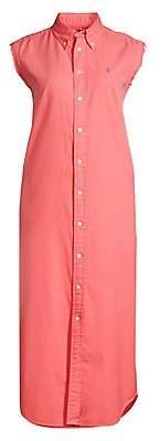 Polo Ralph Lauren Women's Stanford Sleeveless Button-Down Shirtdress