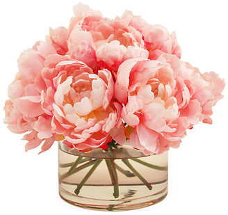 """10"""" Peonies in Cylinder Vase - Faux - The French Bee"""