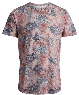 Jack and Jones Floras Palm Crew Neck Tee