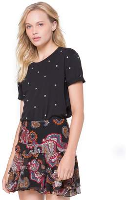 Juicy Couture Dome Stud Embellished Tee