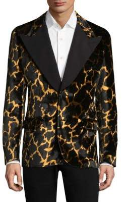 Bally Velvet Giraffe Jacquard Evening Jacket