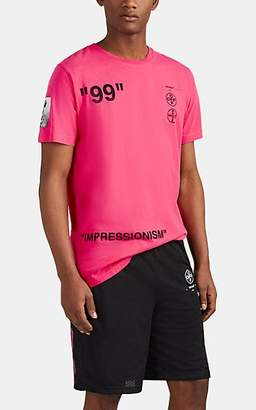 "Off-White Men's ""Impressionism"" Cotton T-Shirt - Pink"
