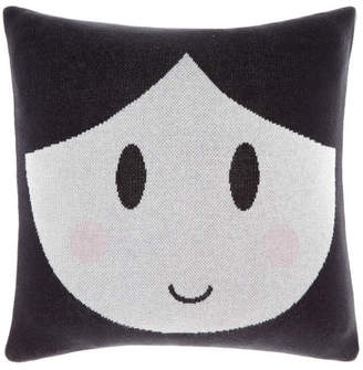 Hiccups Black Dollface Cushion
