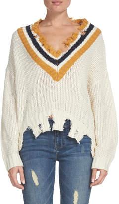 Elan International Zara Distressed Sweater