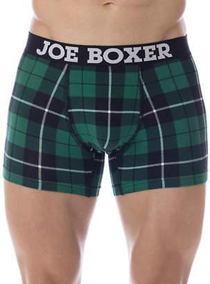Joe Boxer Plaid Fitted Boxer Briefs