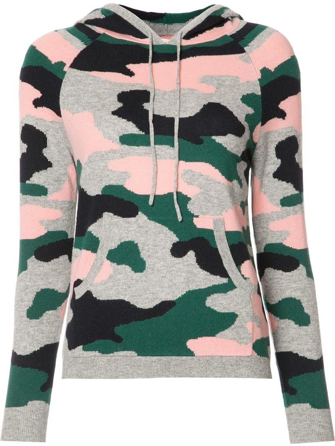 Chinti And Parker Chinti And Parker military print hoodie