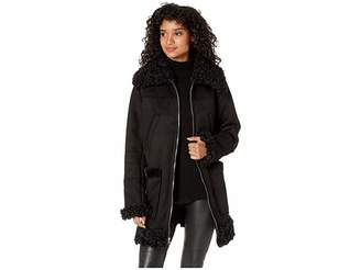 Sam Edelman 3/4 Faux Shearling Coat