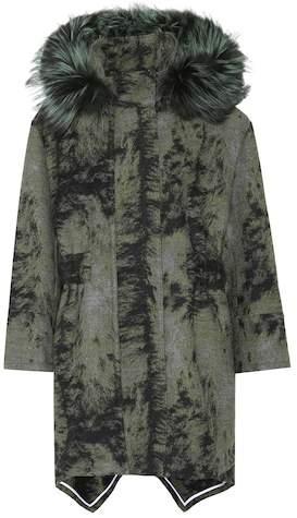 Fendi Fur-trimmed wool coat