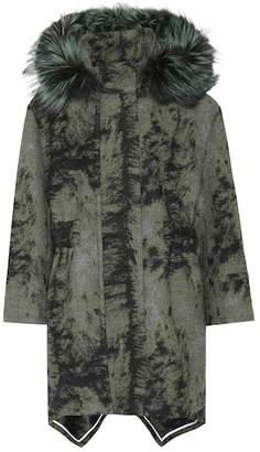 Fendi Fur-trimmed wool coat