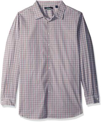 Perry Ellis Men's Big Long Sleeve Multi Color Check Shirt, -4CFW4618, 2XL Tall