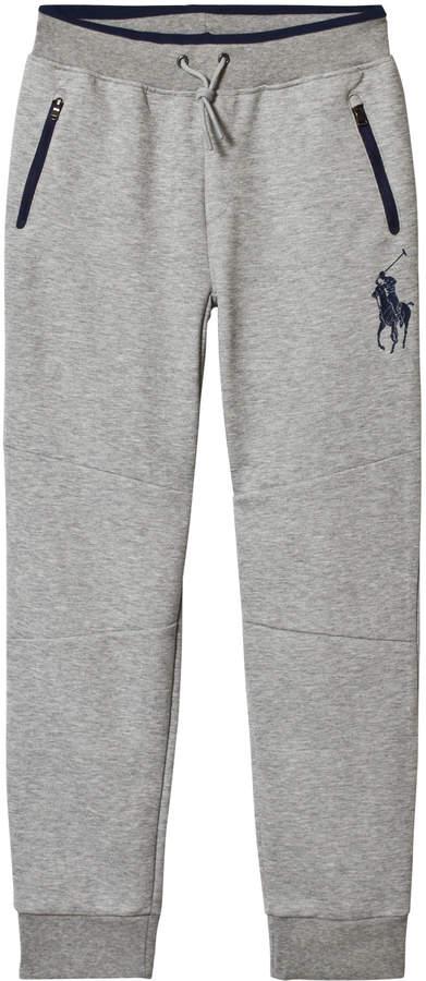 Ralph Lauren Grey Polo Branded Sweatpants