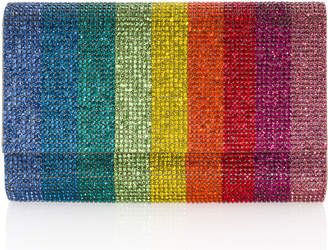 Judith Leiber Couture Fizzoni Rainbow Crystal Full-Beaded Clutch Bag