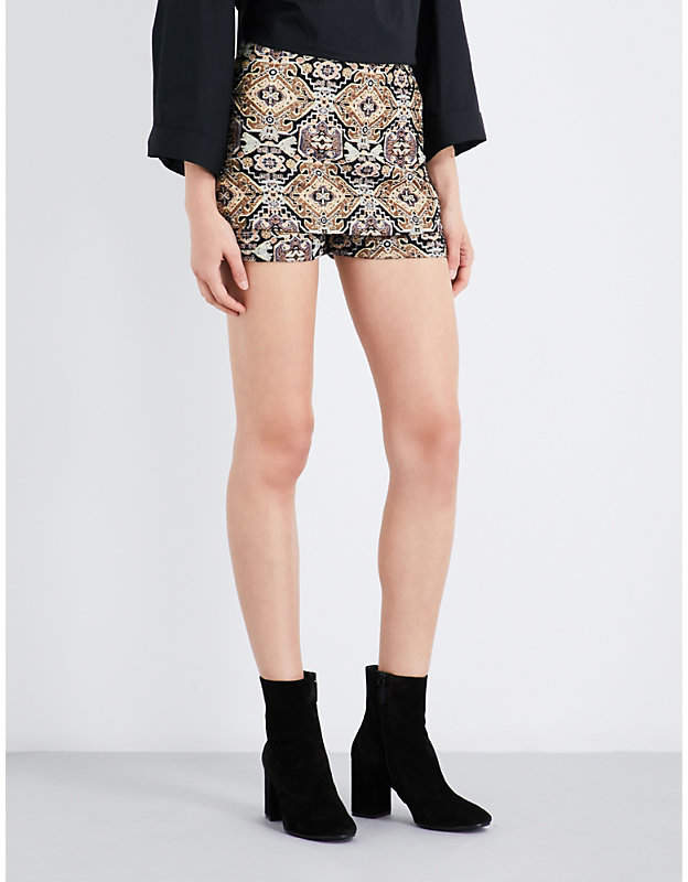 Ilio jacquard skirted shorts