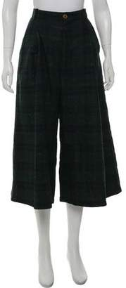 Henrik Vibskov Plaid High-Rise Pants