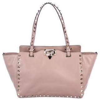 Valentino Rockstud Small Leather Tote Bag