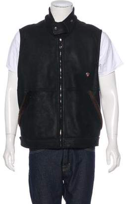 Post Card Shearling Zip Vest