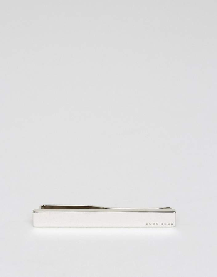 Hugo Boss BOSS by Hugo Boss Tennyson Logo Tie Clip In Silver