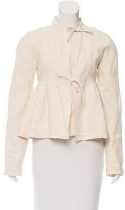 Proenza Schouler Band Collar Peplum Jacket