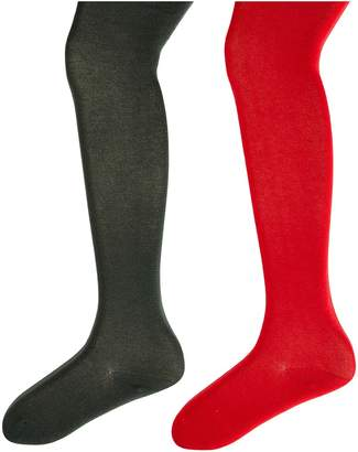Jefferies Socks Seamless Organic Cotton Tights 2-Pack Hose