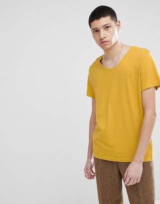 Weekday Daniel T-Shirt In Yellow
