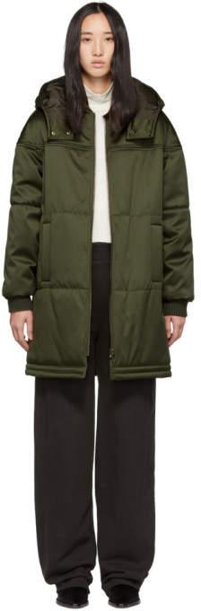 Khaki Satin Ivy Coat