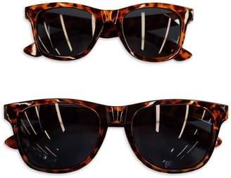 Tiny Treasures Mommy & Me 2-Piece Sunglasses Set in Tortoiseshell Brown