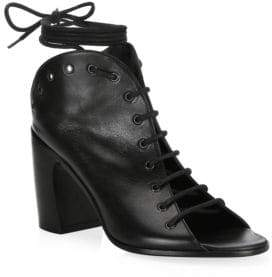 Ann Demeulemeester Leather Lace-Up Ankle Boots