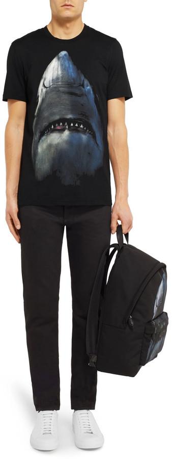 Givenchy Cuban-Fit Shark-Print Cotton-Jersey T-Shirt 6